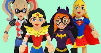 DC Super Hero Girls – Bonecas de Pelúcia Bleacher Creatures