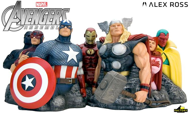The-Avengers-Assemble-Alex-Ross-Fine-Art-Sculpture-01