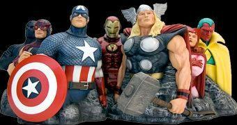 Escultura Fine Art The Avengers Assemble por Alex Ross