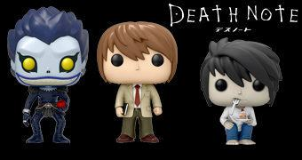 Bonecos Pop! Death Note – Mangá/Anime com Light Yagami, L e Ryuk