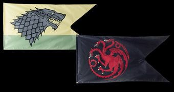 Bandeiras Casas Nobres de Game of Thrones: Stark e Targaryen