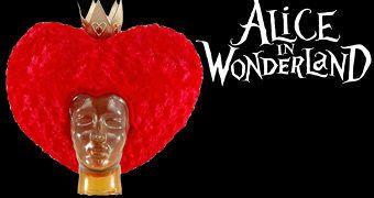 Peruca Coração da Rainha de Copas em Alice no País das Maravilhas