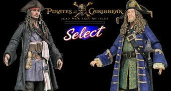 "Piratas do Caribe: A Vingança de Salazar Action Figures Select 7"" – Jack Sparrow e Barbossa"