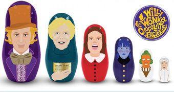 Bonecas Russas Matryoshkas: A Fantástica Fábrica de Chocolate com Gene Wilder