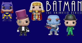 Bonecos Pop! Batman (1966) com Batgirl, Pinguim, Sr. Frio, Charada e King Tut