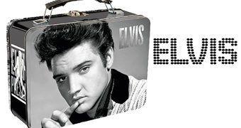Lancheira de Lata Elvis Presley em Preto e Branco