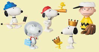 Bonecos Peanuts UDF Série 6 da Medicom Toy Japão