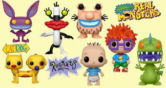 Bonecos Pop! Nickelodeon Anos 90: Aaahh!!! Real Monsters, Rugrats e Catdog