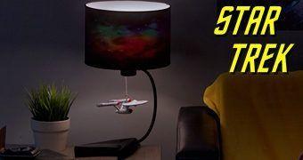 Abajur Star Trek com Miniatura da USS Enterprise