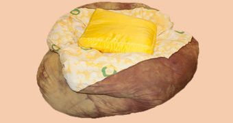 Pufe Batata Assada Baked Potato Bean Bag Chair