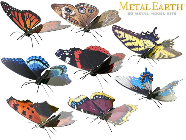 Kits-de-Montar-Borboletas-Butterfly-Metal-Earth-Model-Kits-01
