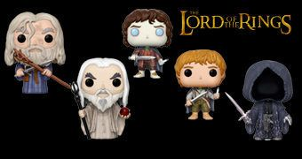 Bonecos Pop! O Senhor dos Anéis com Frodo, Sam, Gandalf, Saruman, Nazgul e Balrog