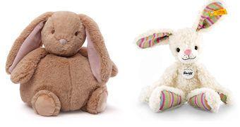 Feliz Páscoa com os Coelhinhos de Pelúcia Steiff e Gund