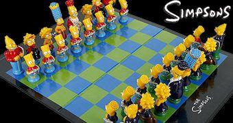 Tabuleiro de Xadrez Os Simpsons