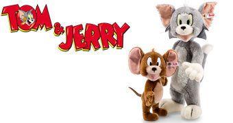 Tom & Jerry de Pelúcia – Bonecos Steiff de Pelo de Cabra Angorá