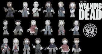 "The Walking Dead Mystery Minis ""In Memoriam""  – Mini-Figuras das Personagens Mortas (Blind-Box)"