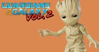 Boneco Eletrônico Groot Dançante em Guardiões da Galáxia Vol. 2