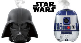 Umidificadores Ultrassônicos Star Wars: R2-D2 e Darth Vader