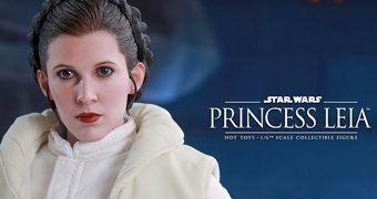 Princesa Leia (Carrie Fisher) em Star Wars Episódio V – Action Figure Perfeita 1:6 Hot Toys