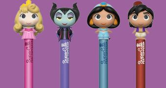 Canetas Funko Pop! Pen Disney 2: Aurora, Maleficent, Aladdin e Jasmine