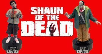 Estátuas Bobble Head Premium Motion: Todo Mundo Quase Morto (Shaun of the Dead)