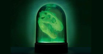 Luminária Discovery Channel Crânio de T-Rex Fosforescente