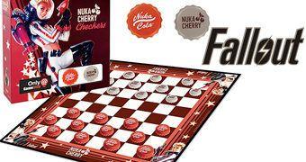 Jogo de Damas Fallout com Peças Nuka-Cola e Nuka-Cherry