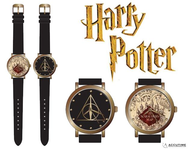 Relogios-Harry-Potter-Maurader-Map-and-Deathly-Hallow-Watch-2-Pack-Set-01