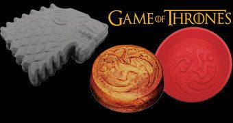 Formas de Silicone Game of Thrones: Stark e Targaryen