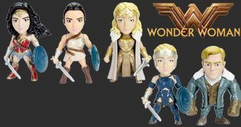 Wonder Woman Movie Metals Die-Cast – Figuras de Metal do Filme Mulher Maravilha