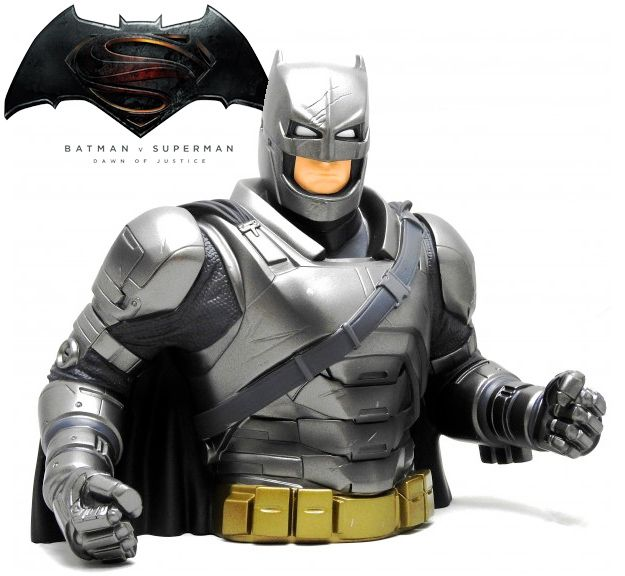 Cofre Busto Batman Com Armadura (Batman Vs Superman