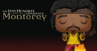 Funko Pop! Jimi Hendrix em Monterey Queimando a Guitarra