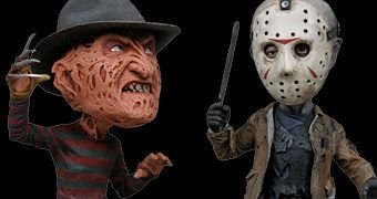 Bonecos Bobble Heads Head Knockers: Jason Voorhees e Freddy Krueger