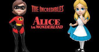 Bonecas Rock Candy Disney: Alice e Mulher-Elástica