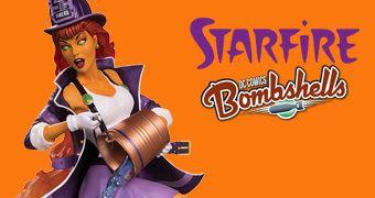 Estátua Starfire (Estelar) DC Bombshells em Estilo Pin Up Anos 40