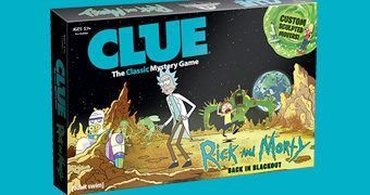 "Jogo de Tabuleiro Rick and Morty ""Back in Blackout"" Clue (Detetive)"