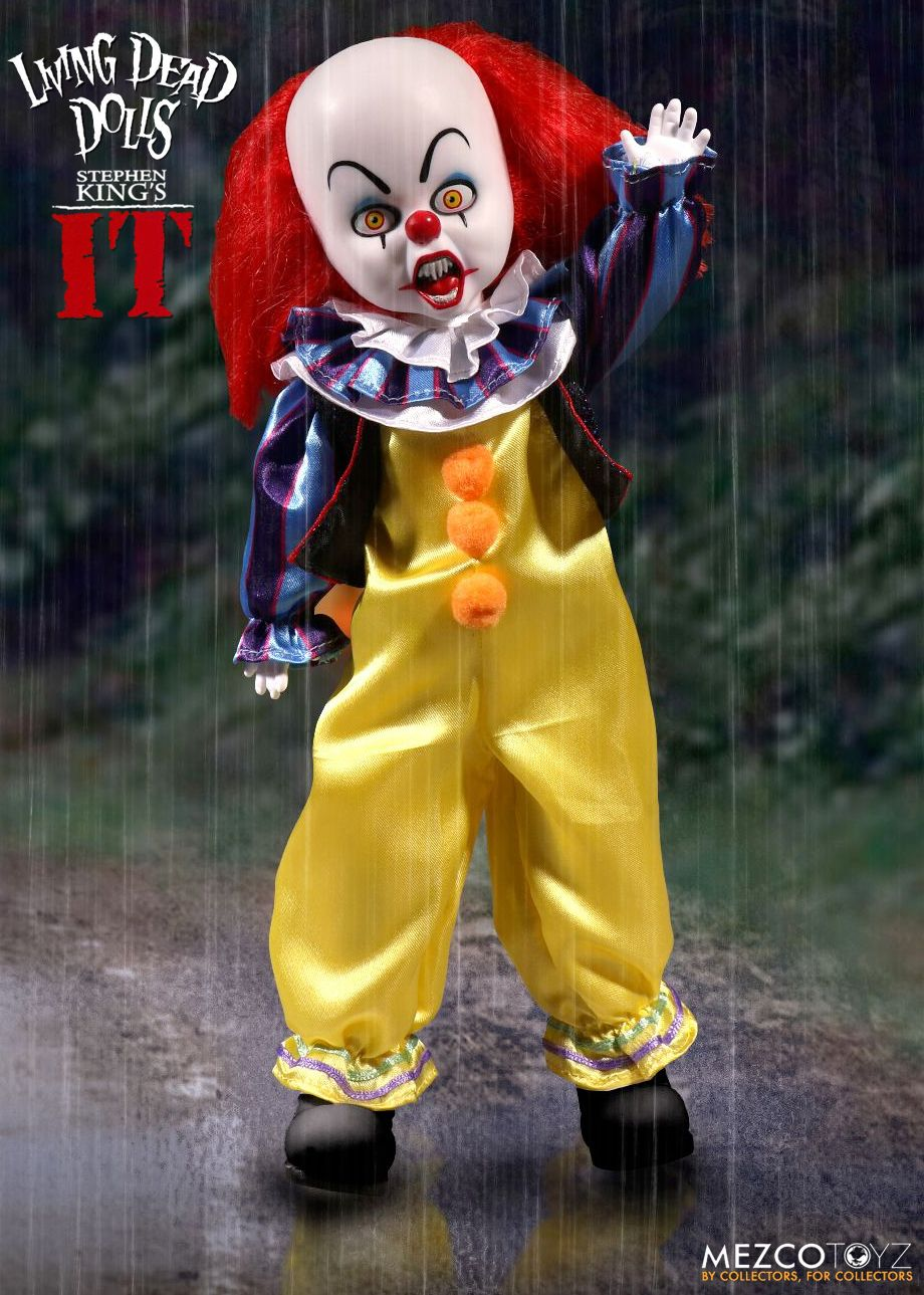 Living-Dead-Dolls-Presents-Boneco-Palhaco-Pennywise-It-1990-Stephen-King