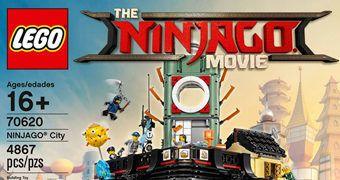 LEGO Ninjago City, uma Cidade com mais de 4.860 Peças (LEGO Ninjago: O Filme)