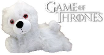 Lobo Ghost Direwolf Filhote de Pelúcia (Game of Thrones)