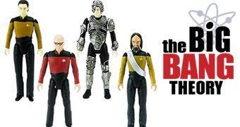Action Figures The Big Bang Theory Fantasiados de Star Trek Nova Geração