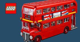 LEGO London Double-Decker Bus – Kit do Clássico Ônibus de Dois Andares de Londres com 1.868 Peças