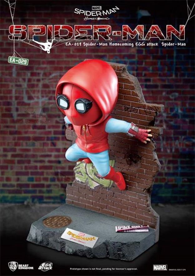 Estatua-Spider-Man-Homecoming-Egg-Attack-Statue-04