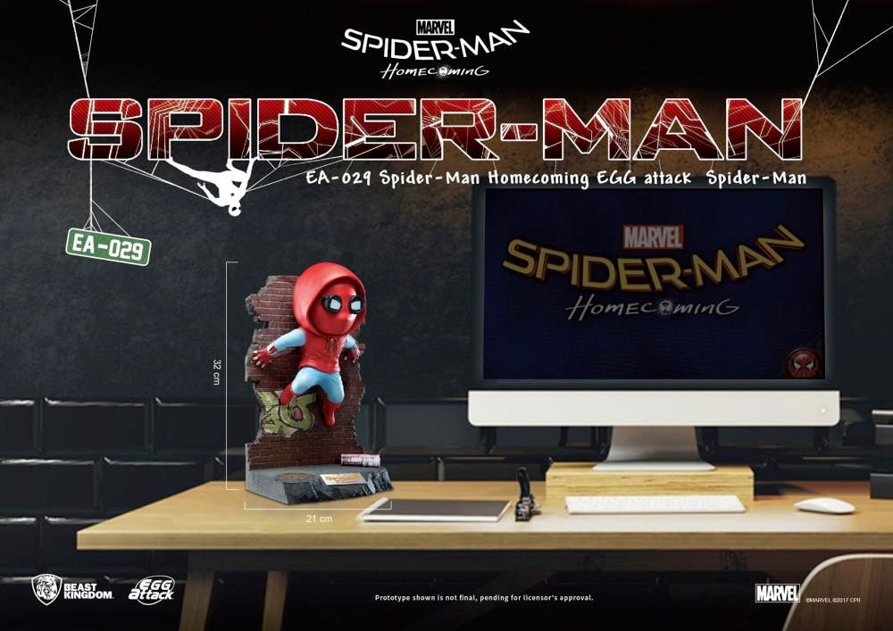 Estatua-Spider-Man-Homecoming-Egg-Attack-Statue-07