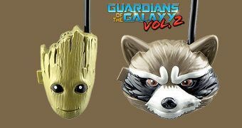 Walkie Talkies Guardiões da Galáxia: Rocket Racoon e Groot