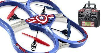 Marvel Super Drones: Capitão América, Homem de Ferro e Homem-Aranha