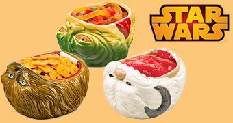 Tigelas de Salgadinhos Star Wars: Chewbacca, Jabba the Hutt e Wampa