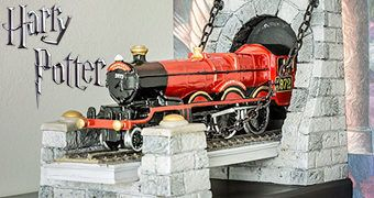 Trem Hogwarts Express Bookends – Apoios de Livros Harry Potter