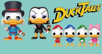 Bonecos Pop! DuckTales: Tio Patinhas, Huguinho, Zezinho, Luizinho, Webby e Maga Patalójika