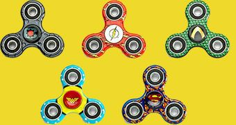 Spinners Liga da Justiça: Superman, Wonder Woman, Lanterna Verde, Ciborgue, Flash e Batman