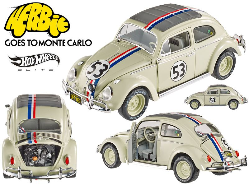 Carrinho-Herbie-Goes-to-Monte-Carlo-VW-Beetle-Hot-Wheels-Elite-Cult-Classics-Die-Cast-Vehicle-01